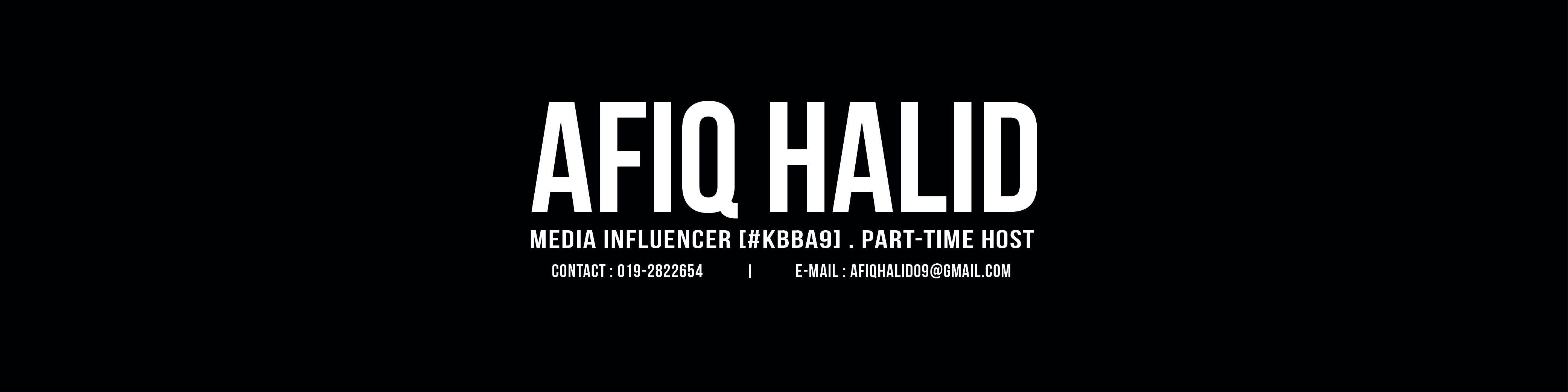 Afiq Halid