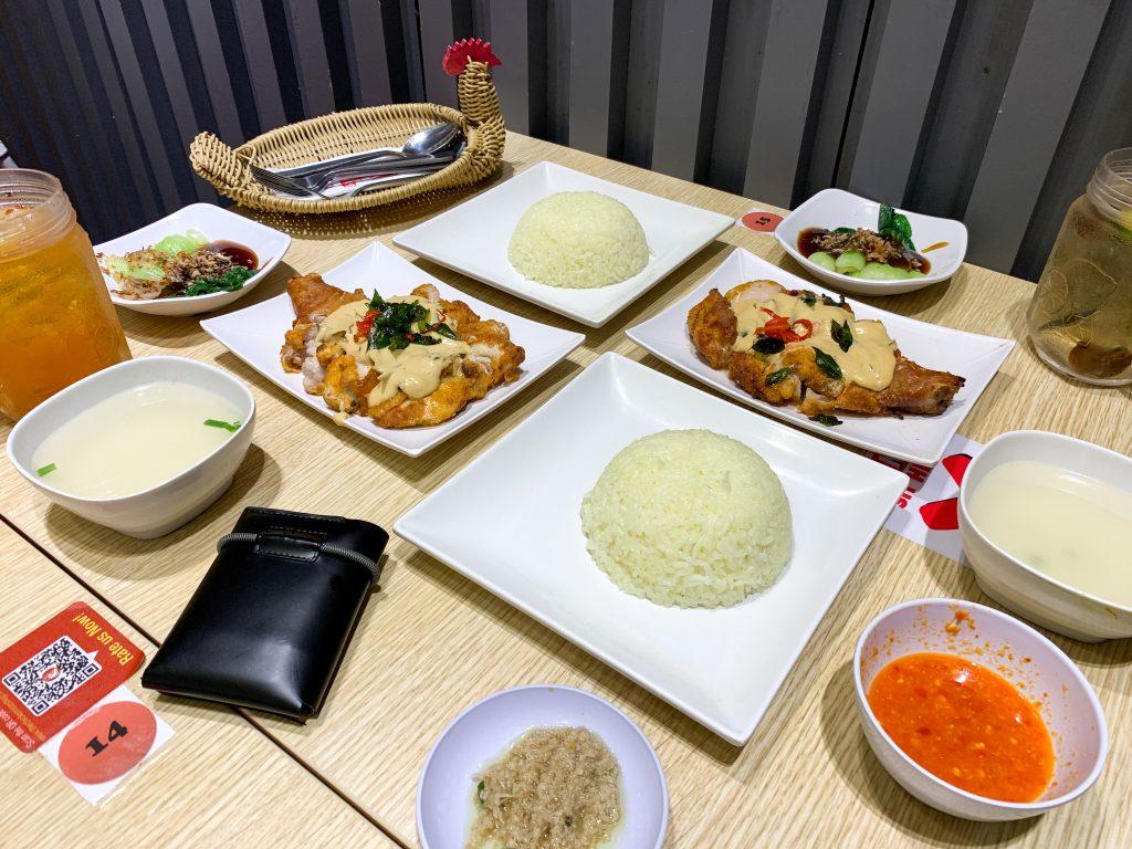 Set menu Ayam Panggang Mentega di The Chicken Rice Shop